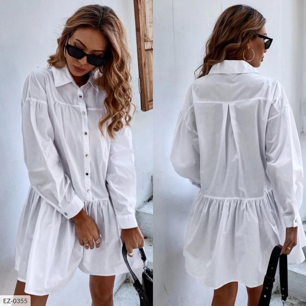 Платье рубашка EZ-0355 белый