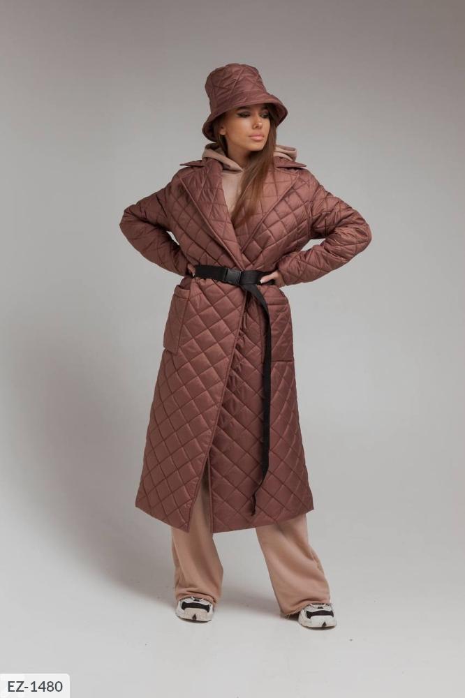 Куртка из водоотталкивающей плащевки на синтепухе EZ-1480 мокко