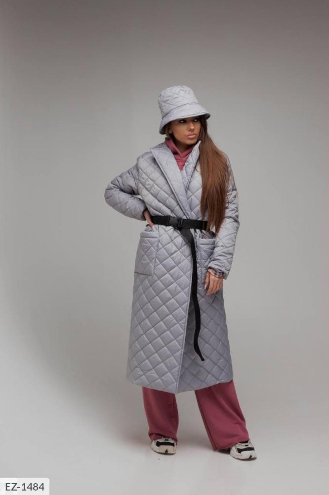 Куртка из водоотталкивающей плащевки на синтепухе EZ-1480 серый