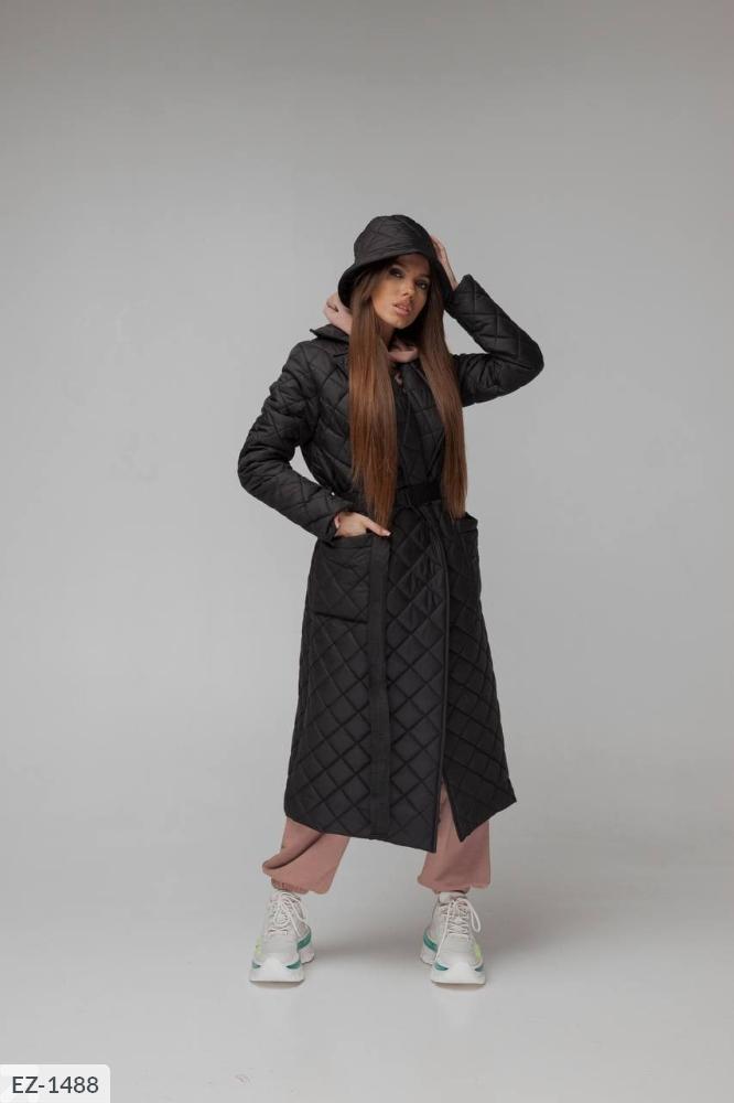 Куртка из водоотталкивающей плащевки на синтепухе EZ-1480 черный