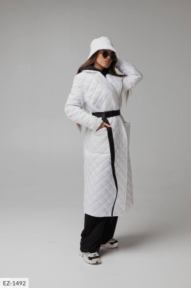 Куртка из водоотталкивающей плащевки на синтепухе EZ-1480 белый