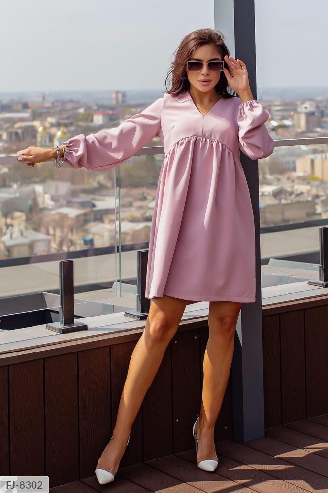 Платье миди свободного кроя FJ-8301 мокко