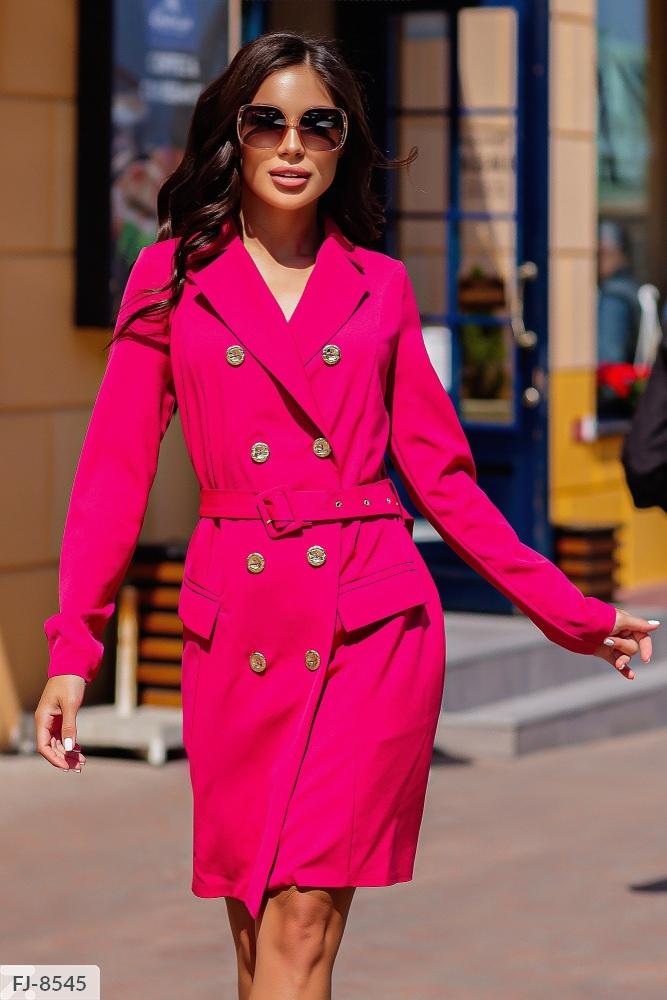 Платье — пиджак приталенного силуэта FJ-8539 малина