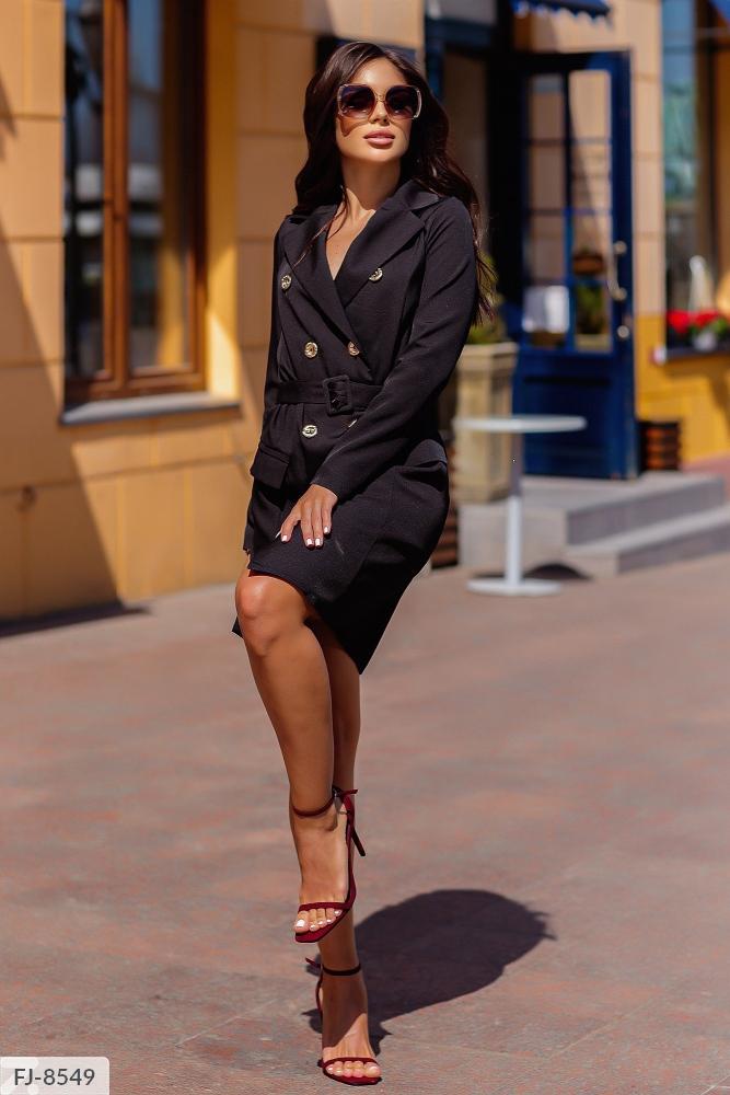 Платье — пиджак приталенного силуэта FJ-8539 черный