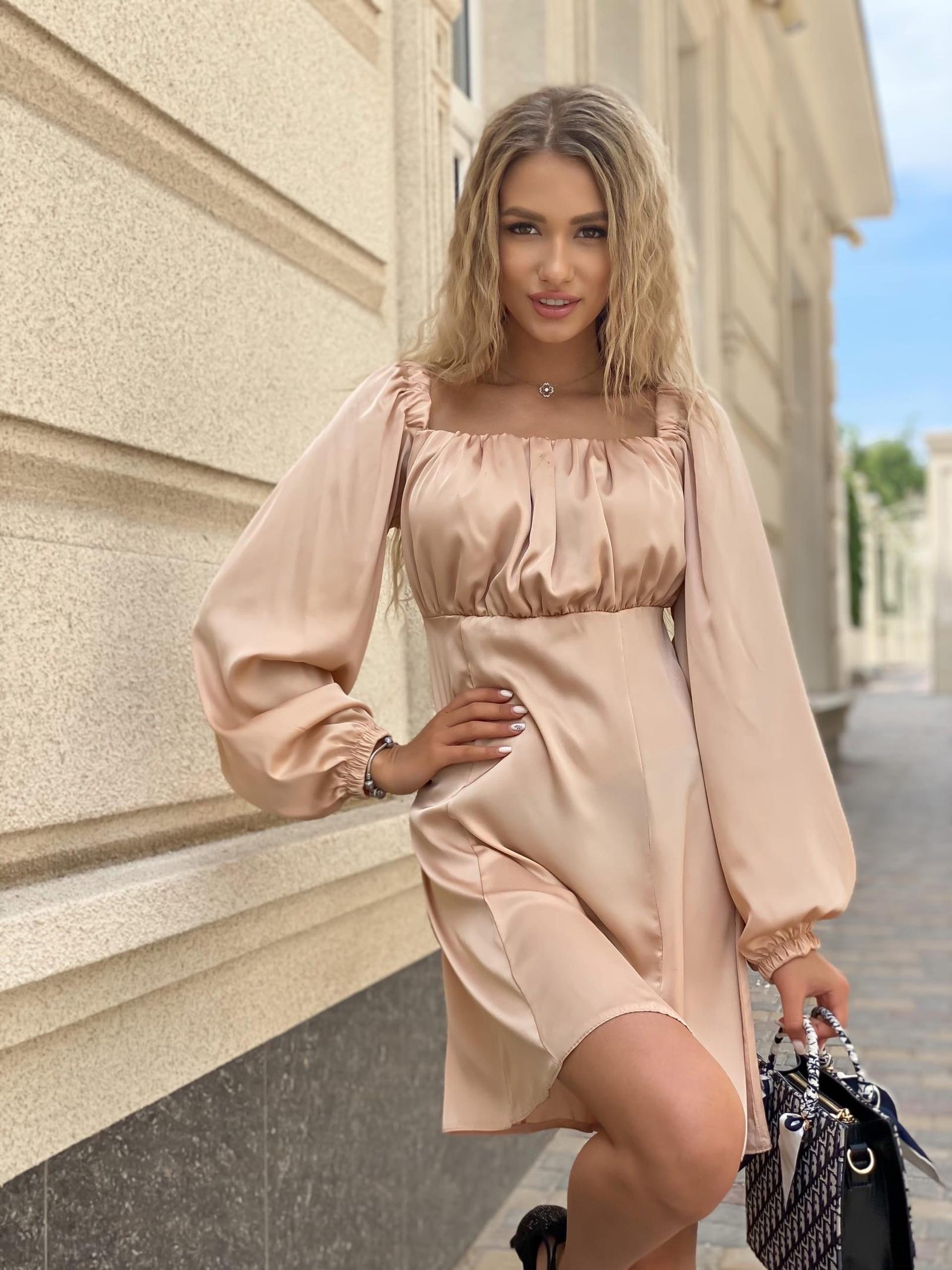 Платье Ря405 беж