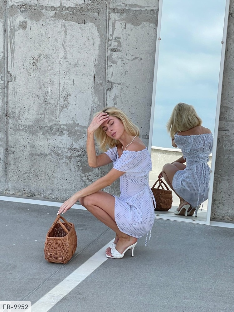 Платье FR-9951 белый
