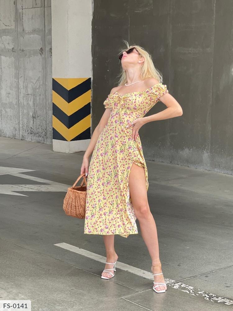 Платье FS-0135 желтый