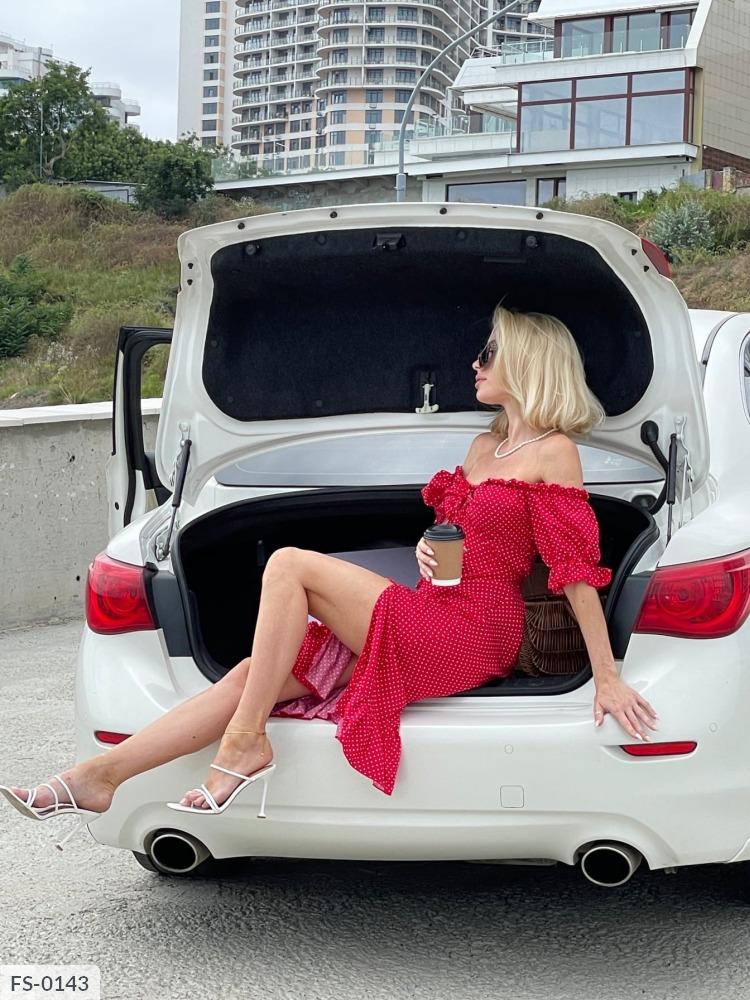 Платье FS-0143 красный