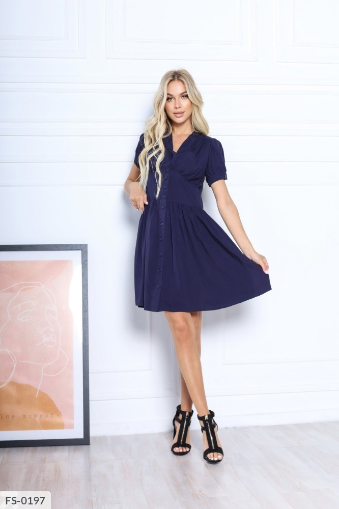 Платье FS-0192 темносиний
