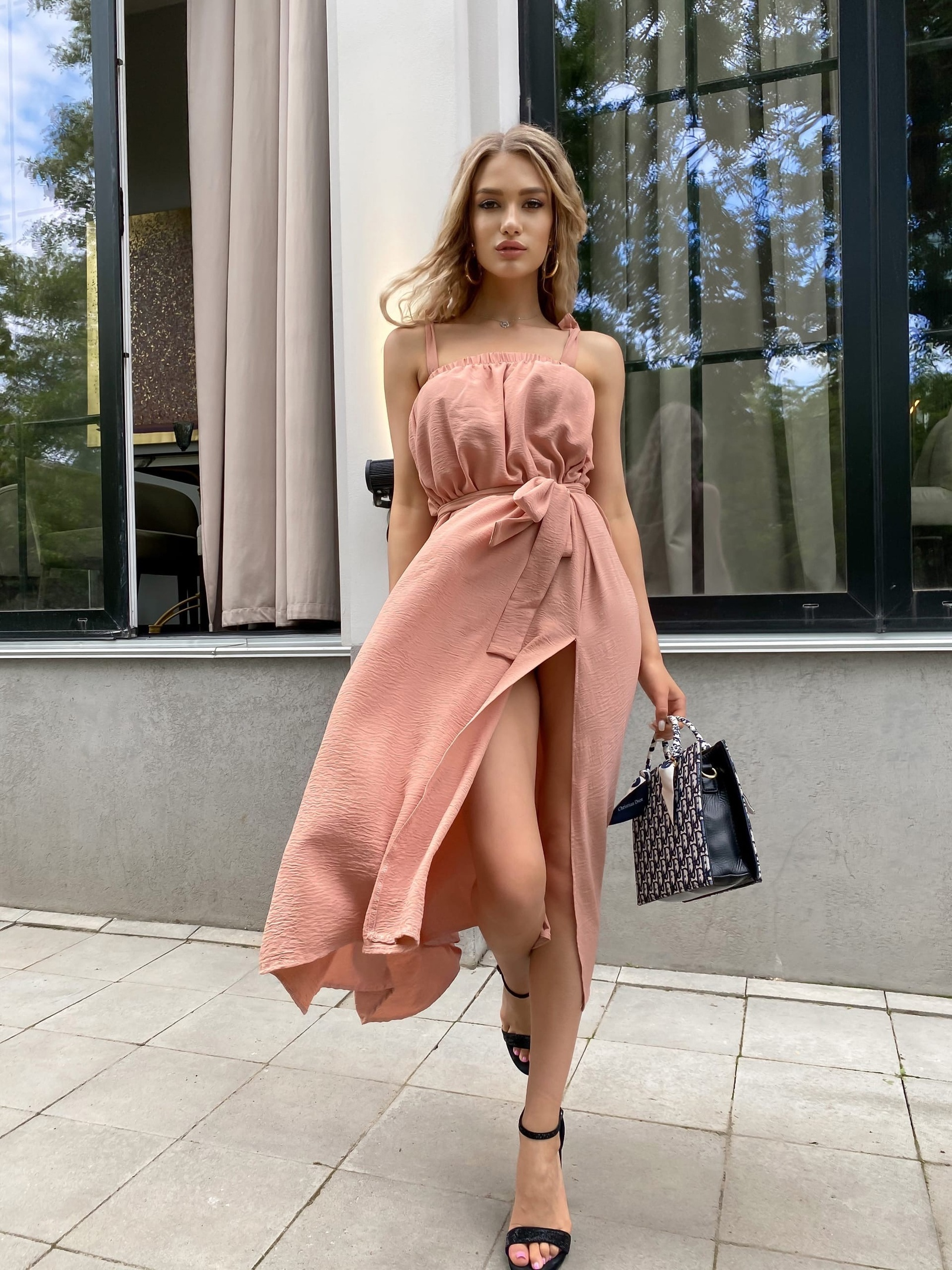 Платье Ря407 персик