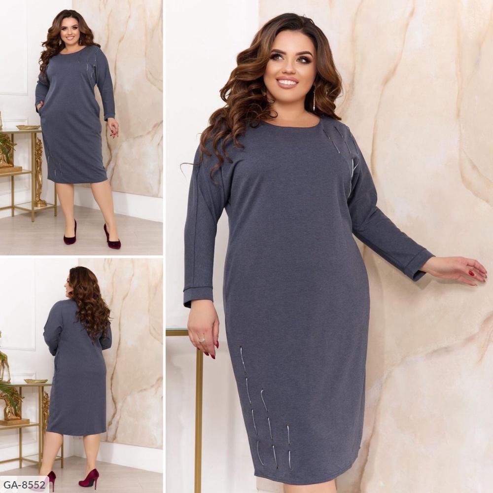 Платье GA-8551 серый
