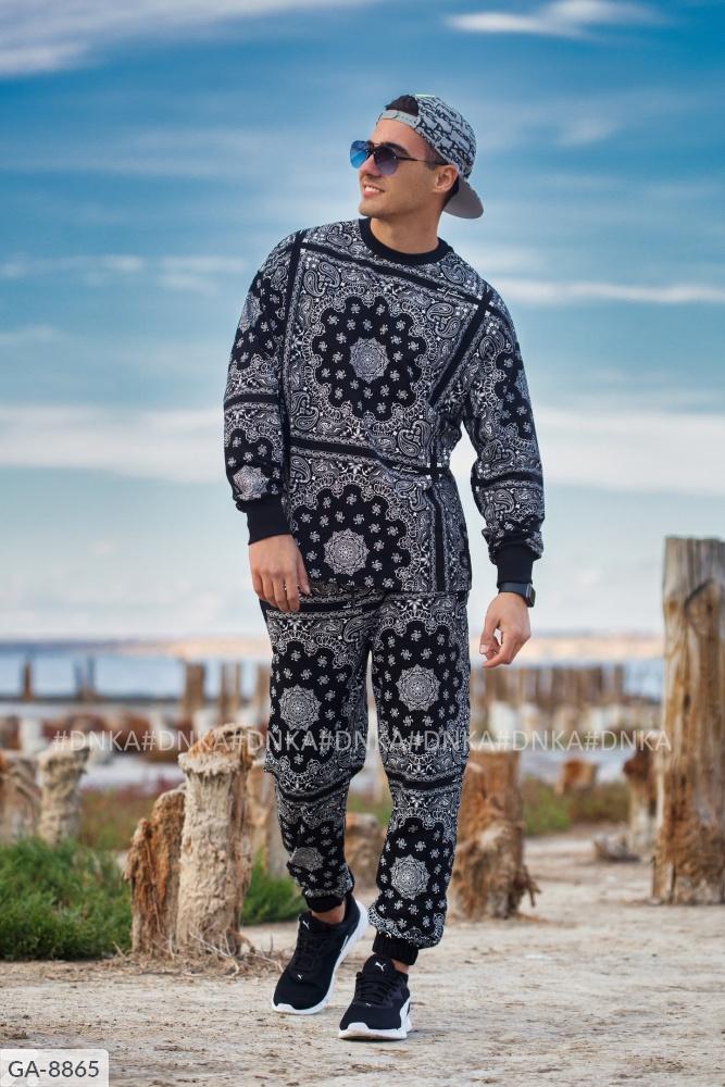 Мужской костюм GA-8865 темносиний