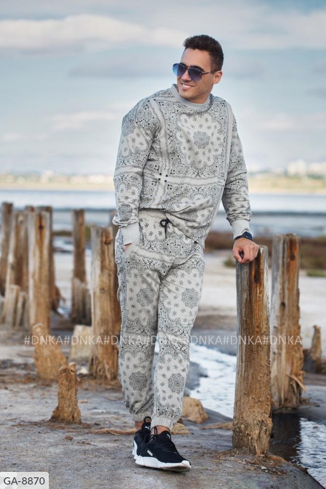 Мужской костюм GA-8865 серый
