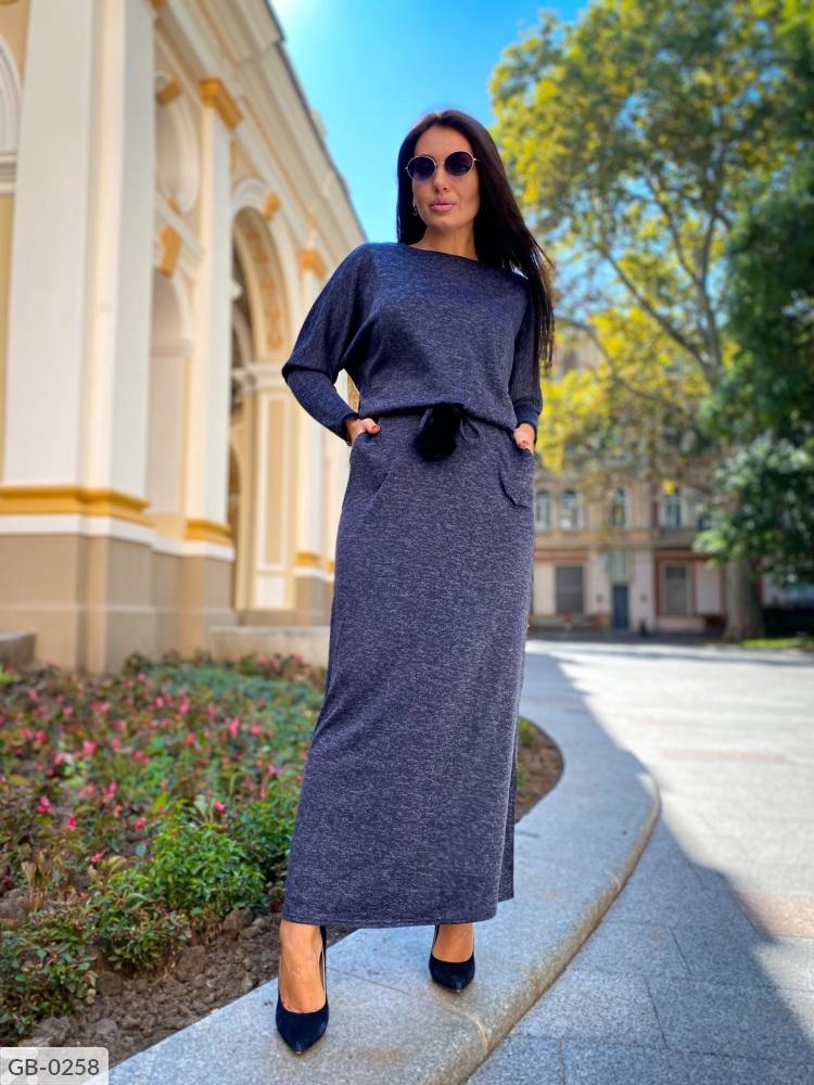 Платье GB-0250 темносиний