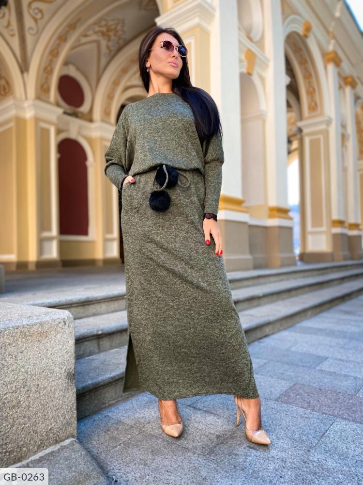 Платье GB-0250 хаки