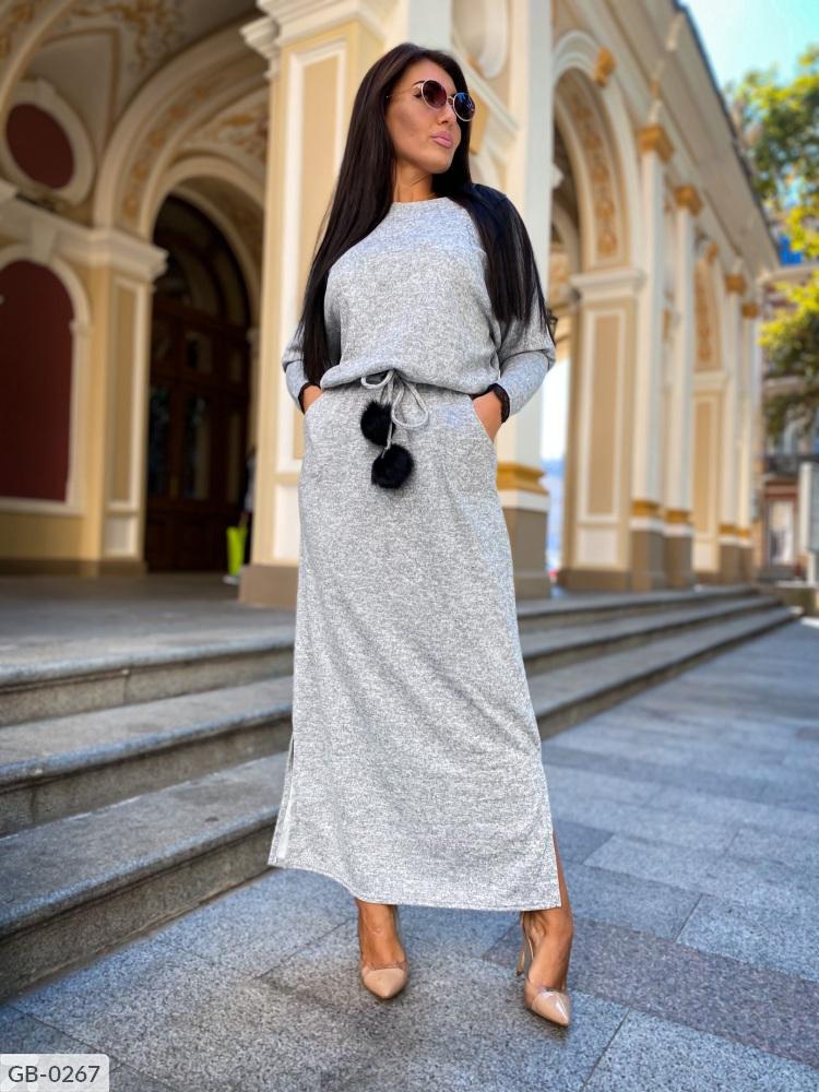 Платье GB-0250 серый