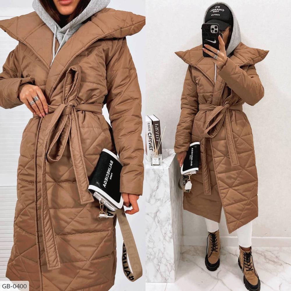Пальто GB-0400 горчица